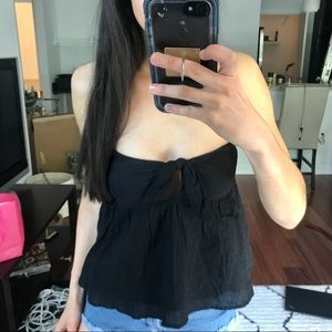 Tobi black strapless tube top tank